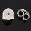 925 Sterling Silber Ohrmutter Zubehör, 4.50x4.50x2.80mm, 40PaarePärchen/Menge, verkauft von Menge