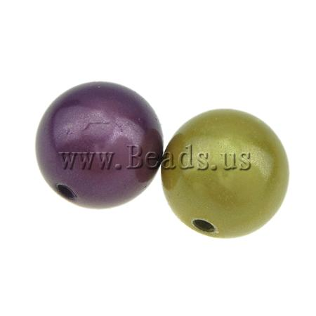 Buy ABS Plastic Beads Round mixed colors 12mm Hole:Approx 2mm 250PCs/Bag Sold Bag