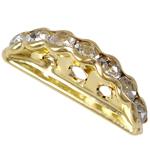 Messing Zwischenstege, Dom, goldfarben plattiert, 3-Strang & mit Strass, frei von Nickel, Blei & Kadmium, 19x7.50x3.50mm, Bohrung:ca. 1.5-2mm, 100PCs/Tasche, verkauft von Tasche
