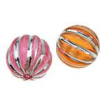 ABS-Kunststoff-Perlen, ABS Kunststoff, rund, gemischte Farben, 11x12mm, Bohrung:ca. 2mm, 600PCs/Tasche, verkauft von Tasche