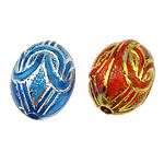 ABS-Kunststoff-Perlen, ABS Kunststoff, oval, gemischte Farben, 10x13mm, Bohrung:ca. 1.5mm, 750PCs/Tasche, verkauft von Tasche