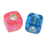 ABS-Kunststoff-Perlen, ABS Kunststoff, Würfel, gemischte Farben, 8x8mm, Bohrung:ca. 4mm, 1700PCs/Tasche, verkauft von Tasche