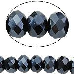 Rondell Kristallperlen, Kristall, AB Farben plattiert, AA grade crystal, Montana, 4x6mm, Bohrung:ca. 1mm, Länge:ca. 18 ZollInch, 10SträngeStrang/Tasche, ca. 120PCs/Strang, verkauft von Tasche