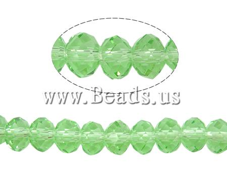 Buy Rondelle Crystal Beads faceted & imitation CRYSTALLIZED™ element crystal Peridot 6x8mm Hole:Approx 1.5mm Length:Approx 17 Inch 10Strands/Bag Approx 65PCs/Strand Sold Bag