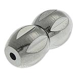 Messing Schraubschließe, Kalebasse, Platinfarbe platiniert, frei von Nickel, Blei & Kadmium, 10.30x5.20mm, Bohrung:ca. 1.2mm, 100PCs/Tasche, verkauft von Tasche