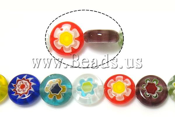Buy Glass Chevron Beads Millefiori Glass Flat Round mixed colors 10x10x3.8-4mm Hole:Approx 1mm Length:Approx 14.5 Inch 10Strands/Lot Sold Lot