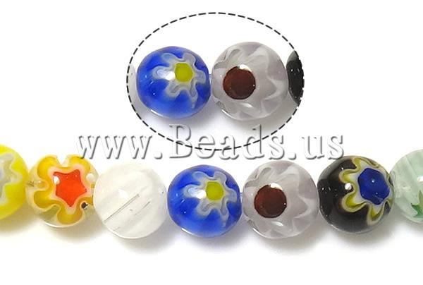 Buy Glass Chevron Beads Millefiori Glass Round mixed colors 6mm Hole:Approx 1mm Length:Approx 14.5 Inch 10Strands/Lot Sold Lot