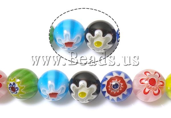Buy Glass Chevron Beads Millefiori Glass Round mixed colors 10mm Hole:Approx 1mm Length:Approx 14.2 Inch 10Strands/Lot Sold Lot