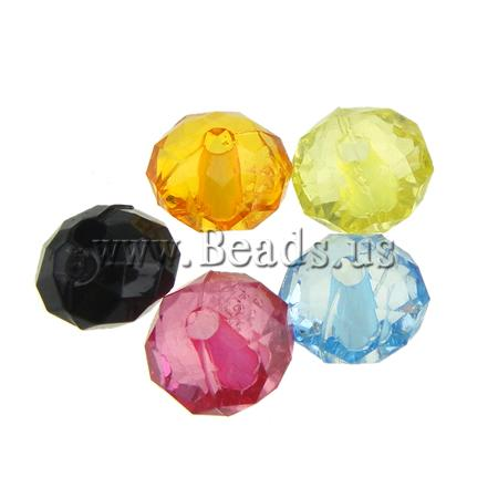 Buy Transparent Acrylic Beads Rondelle translucent mixed colors 8x5.50mm Hole:Approx 1mm 2890PCs/Bag Sold Bag