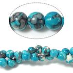 Regen Blumen Stein Perlen, rund, 10mm, Bohrung:ca. 1mm, Länge:ca. 15 ZollInch, 10SträngeStrang/Menge, ca. 37PCs/Strang, verkauft von Menge
