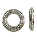 Verkupfertes Kunststoff-Perlen, Verkupferter Kunststoff, Kreisring, Platinfarbe platiniert, frei von Nickel, Blei & Kadmium, 16x3mm, Bohrung:ca. 9mm, 5Taschen/Menge, verkauft von Menge