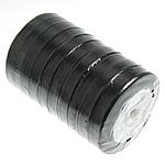 Satinband, schwarz, 12mm, Länge:250 HofHof, 10PCs/Menge, verkauft von Menge