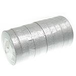 Funkeln Band, Silberfarbe, 20mm, Länge:250 HofHof, 10PCs/Menge, verkauft von Menge