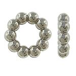 Verkupfertes Kunststoff-Perlen, Verkupferter Kunststoff, Blume, Platinfarbe platiniert, frei von Nickel, Blei & Kadmium, 14x4mm, Bohrung:ca. 8mm, 5Taschen/Menge, verkauft von Menge