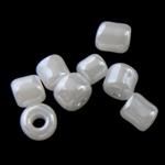 Ceylon Glas-Rocailles, rund, klar, 1.90x2.20mm, Bohrung:ca. 0.3mm, ca. 15000PCs/Tasche, verkauft von Tasche