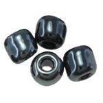 Glänzende Glas-Rocailles, rund, Schimmer, schwarz, 2x3mm, Bohrung:ca. 0.3mm, ca. 25710PCs/Tasche, verkauft von Tasche