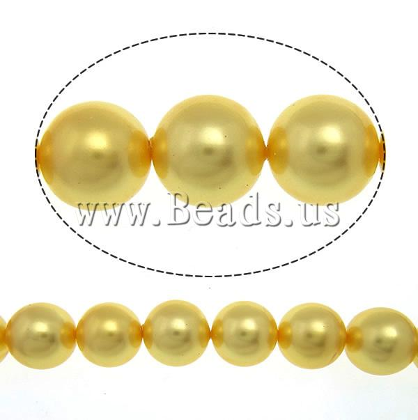 Buy South Sea Shell Beads Round yellow 10mm Approx 0.5mm Sold Per 16 Inch Strand