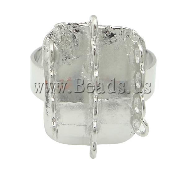 Buy Brass Loop Ring Base platinum color plated adjustable lead & cadmium free 13.80x17.80mm Hole:Approx 1mm US Ring Size:7.5 100PCs/Bag Sold Bag