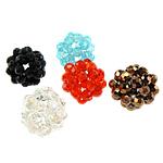 Runde Kristallperlen, Kristall, gemischte Farben, 18-20mm, 5PCs/Tasche, verkauft von Tasche