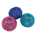 Aluminium Perlen, Trommel, Spritzlackierung, gemischte Farben, 18x15mm, Bohrung:ca. 6mm, 100PCs/Tasche, verkauft von Tasche