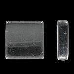 Glas Cabochons, Quadrat, transparent & verschiedene Größen vorhanden, 100PCs/Tasche, verkauft von Tasche