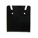 Organisches Glas Ohrringständer, Rechteck, schwarz, 35x40mm, 100PCs/Tasche, verkauft von Tasche