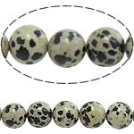 Dalmatinische Perlen, Dalmatiner, rund, natürlich, 4mm, Bohrung:ca. 0.8mm, Länge:ca. 15 ZollInch, 10SträngeStrang/Menge, ca. 90PCs/Strang, verkauft von Menge