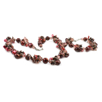 Kristall Schmucksets, Armband & Halskette, Natürliche kultivierte Süßwasserperlen, mit Kristall, Messing Verschluss, gemischte Farben, 11-14mm, 8x6mm, Länge:18 ZollInch,  7.5 ZollInch, verkauft von setzen