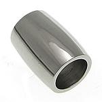 Edelstahlrohr Perlen, Edelstahl, Trommel, originale Farbe, 12x9mm, Bohrung:ca. 6mm, 50PCs/Menge, verkauft von Menge