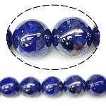 Perlmuttartige Porzellan Perlen, rund, tiefblau, 18mm, Bohrung:ca. 2.5mm, 100PCs/Tasche, verkauft von Tasche