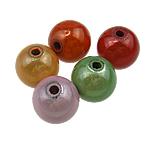 Traumhafte Acrylperlen, Acryl, rund, gemischte Farben, 18mm, Bohrung:ca. 2.5mm, 165PCs/Tasche, verkauft von Tasche