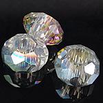 European Kristall Perlen, Rondell, ohne troll & facettierte, Kristall, 8-9x14-15mm, Bohrung:ca. 6mm, 200PCs/Tasche, verkauft von Tasche