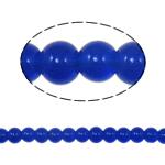 Runde Kristallperlen, Kristall, tiefblau, 6mm, Bohrung:ca. 1.5mm, Länge:11.8 ZollInch, 10SträngeStrang/Tasche, verkauft von Tasche