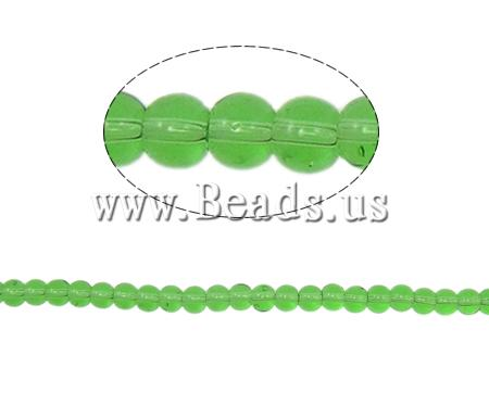 Buy Round Crystal Beads Fern Green 4mm Hole:Approx 1mm Length:Approx 13 Inch 10Strands/Bag Sold Bag
