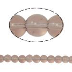 Runde Kristallperlen, Kristall, heller Pfirsich, 6mm, Bohrung:ca. 1.5mm, Länge:12 ZollInch, 10SträngeStrang/Tasche, verkauft von Tasche