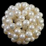 Ball Cluster Zuchtperlen, Natürliche kultivierte Süßwasserperlen, rund, weiß, 40mm, verkauft von PC