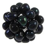 Ball Cluster Zuchtperlen, Natürliche kultivierte Süßwasserperlen, rund, schwarz, 15-20mm, verkauft von PC
