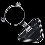 Organisches Glas Armbandständer, Rack, transluzent, klar, 60mm, 86x79mm, 50PCs/Menge, verkauft von Menge