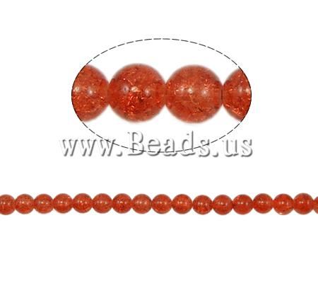Buy Crackle Glass Beads Round reddish orange 10mm Hole:Approx 2mm Length:Approx 31 Inch 10Strands/Bag Sold Bag