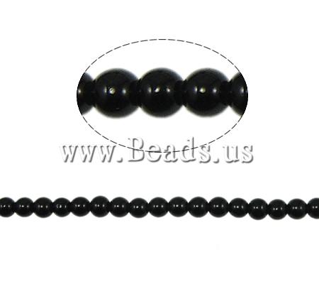 Buy Glass Pearl Beads Round black 8mm Hole:Approx 2mm Length:Approx 31 Inch 10Strands/Bag Sold Bag