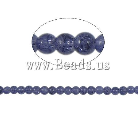 Crackle Glass Beads Round purple 6mm Hole:Approx 1.5mm Length:Approx 31 Inch 10Strands/Bag Sold Bag