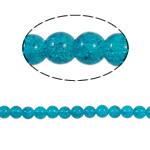 Knistern Glasperlen, Glas, rund, blau, 10mm, Bohrung:ca. 2mm, Länge:ca. 31 ZollInch, 10SträngeStrang/Tasche, verkauft von Tasche