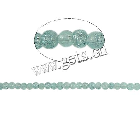 Buy Crackle Glass Beads Round green 4mm Hole:Approx 1.5mm Length:Approx 31 Inch 10Strands/Bag Approx 220PCs/Strand Sold Bag