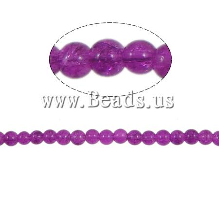Buy Crackle Glass Beads Round fuchsia pink 6mm Hole:Approx 1.5mm Length:Approx 30.5 Inch 10Strands/Bag Sold Bag