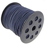 Wollschnur, mit Kunststoffspule, doppelseitig, tiefblau, 2.50x1.50mm, Länge:100 HofHof, verkauft von PC