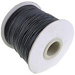 Wachsschnur, schwarz, 1mm, Länge:500 , 5PCs/Menge, 100/PC, verkauft von Menge