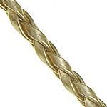 Lederband, PU Leder, Goldfarbe, 3mm, Länge:100 , verkauft von Menge