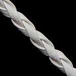 Lederband, PU Leder, weiß, 3mm, Länge:100 HofHof, verkauft von Menge
