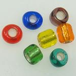 Gemischte Glas Rocailles, Glas-Rocailles, Rundes Rohr, gemischte Farben, 2x3mm, Bohrung:ca. 1mm, verkauft von Tasche