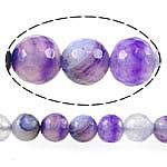 Natürliche violette Achat Perlen, Violetter Achat, rund, facettierte, 8mm, Bohrung:ca. 1mm, Länge:ca. 15 ZollInch, 5SträngeStrang/Menge, verkauft von Menge